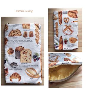 オーダー パン柄の手帳ケース