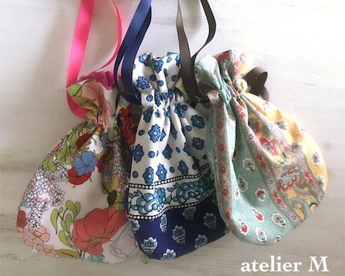 【新作】リバーシブル巾着袋