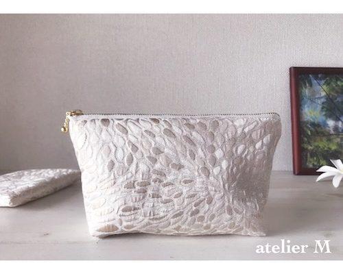 光り輝くシリーズ「ジャガード織りポーチ」色合いが綺麗です!